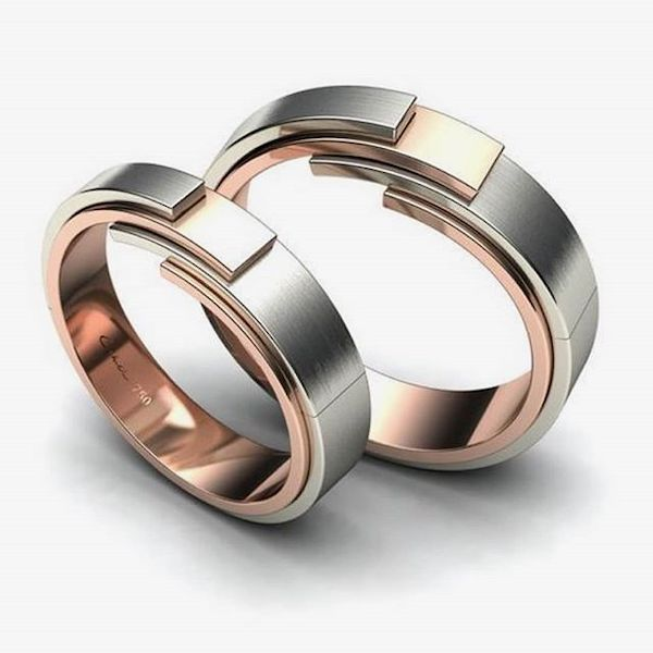 cincin kawin emas silver