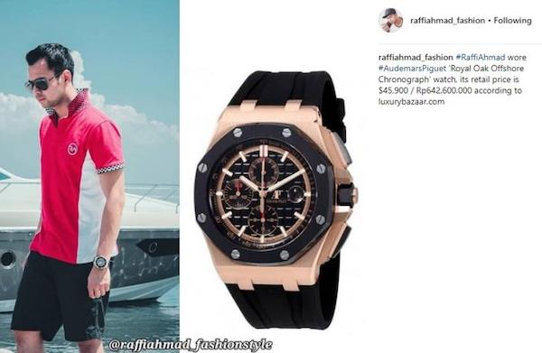 jam tangan raffi ahmad