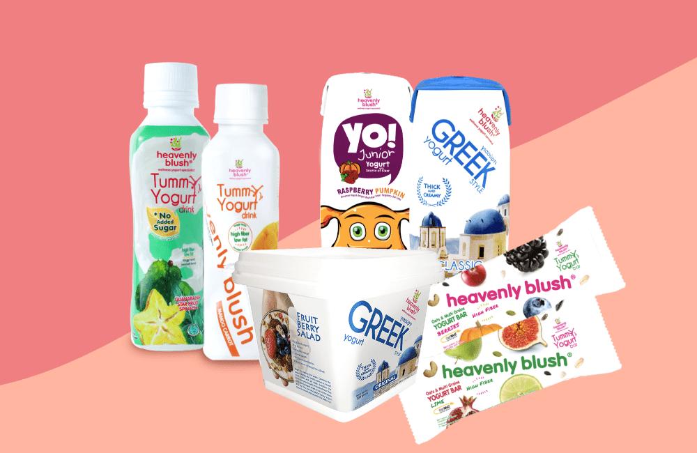 Yogurt Drink Bebas Gula Pertama dari Heavenly Blush