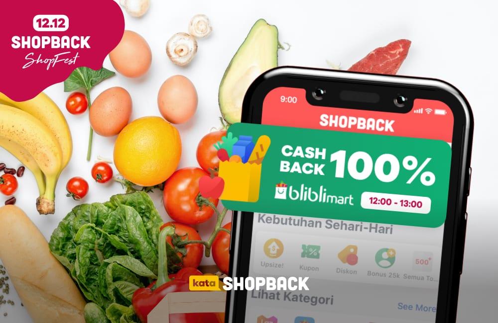 Promo 12.12, Belanja Kebutuhan Rumah Tangga di Bliblimart dapat Cashback 100%