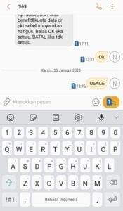 Cek Pulsa dengan SMS