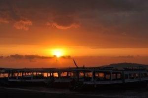 Kapal feri di Pelabuhan Bangsal