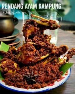 Rendang Ayam Kampung Sederhana