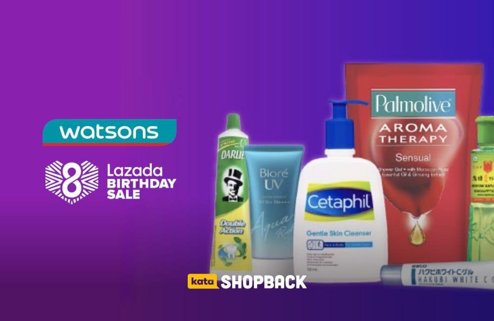 Promo Watsons Official Store di Lazada, Ada Bonus Cashback Rp25.000!