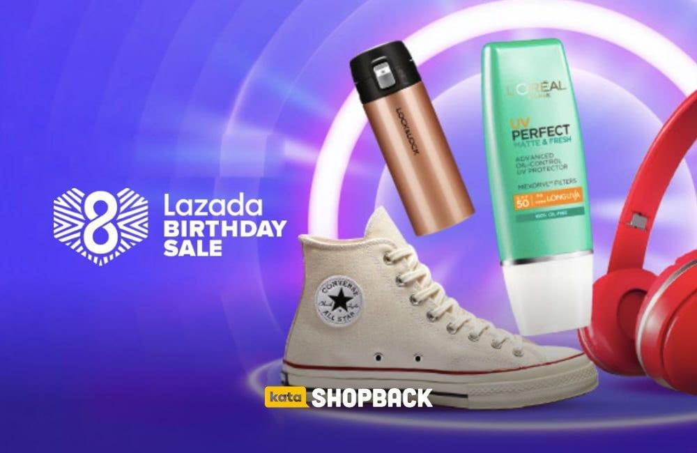 Lazada Birthday Sale 2020: Cuma Sehari, Bertabur Diskon dan Cashback!