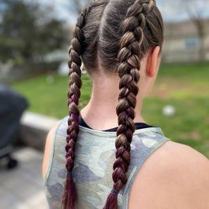 Kepang Samping Dutch Braids