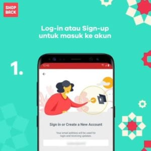 Sign-up atau Log-in Akun ShopBack