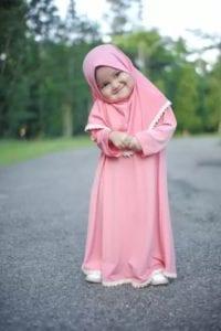 gamis anak perempuan warna pink