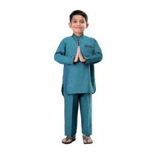 baju koko anak laki-laki warna toska