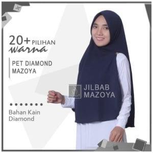 Jilbab Pet Diamond Mazoya Instan