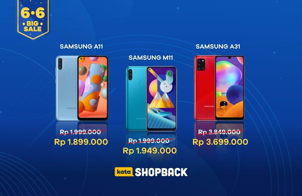 Flash Sale Hp Samsung di ShopBack, Dapatkan Cashback Hingga 150 Ribu!