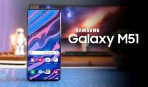 Samsung Galaxy M51 Tampilan Ponsel