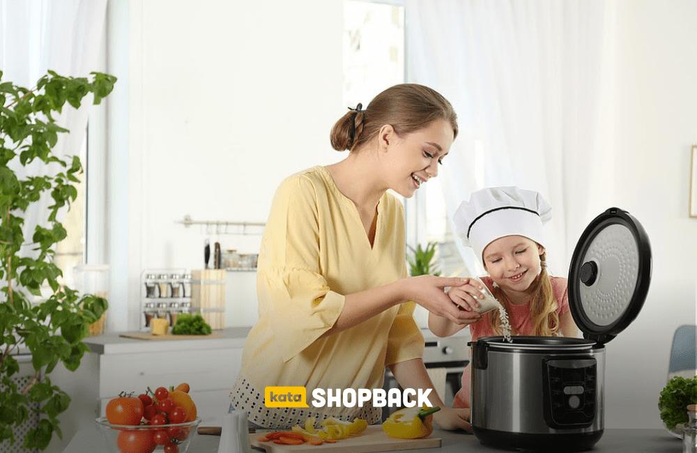 memasak dengan rice cooker