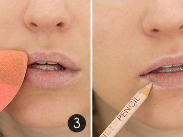 trik makeup bibir tebal
