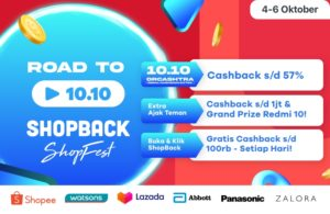 promo cashback terbaru, promo flash sale, bonus cashback, voucher diskon, shopfest 10.10, shopback
