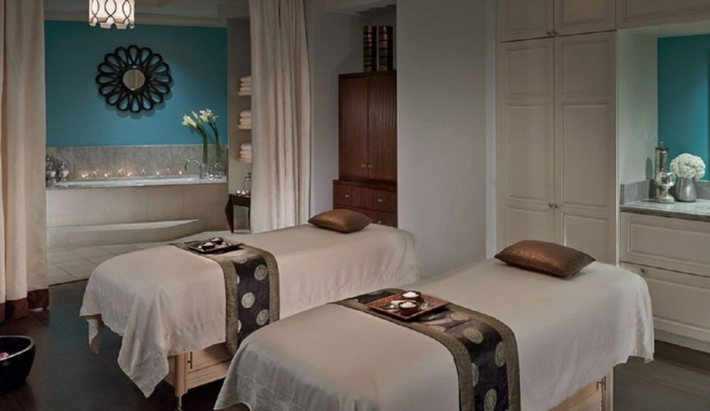 Massage room for two