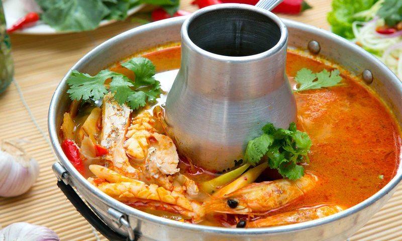 Thai hot pot in Seeri Thai restaurant