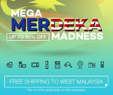 Lazada Mega Merdeka Madness: Up To 90% Off!