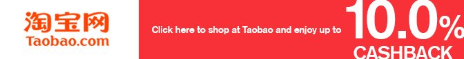 Get Taobao cashback, deals, coupons & promo codes