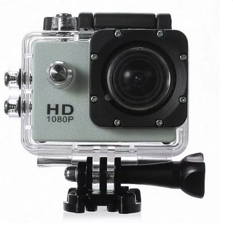 (IMPORT) SJ4000 Helmet Sports Camera Camcorder DV 1080P Full HD 12MP Waterproof Silver