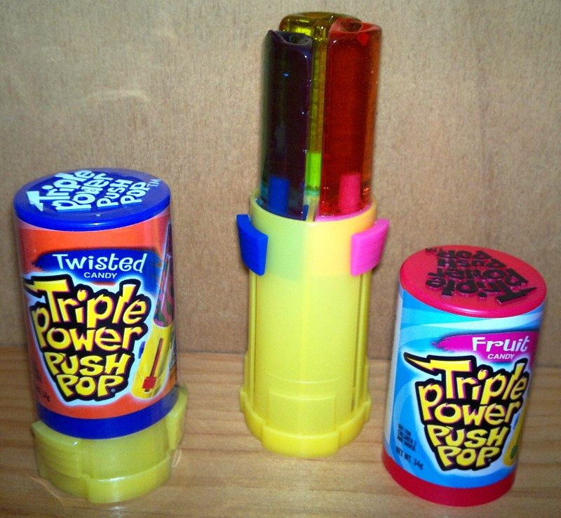 Triple Power Push Pop Twisted Candy