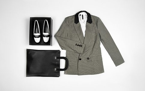 Charles and Keith flatlay for the Edgy girl