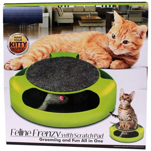 Cat Toy Pet Scratch Pad with Mouse Chaser