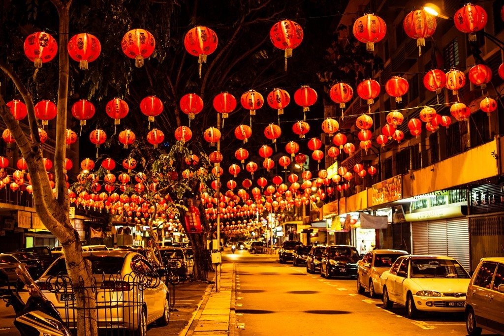 Gaya Street during Chinese New Year at Kota Kinabalu