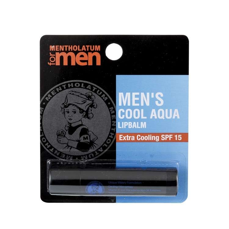 Mentholatum Men's Cool Aqua Lip Balm