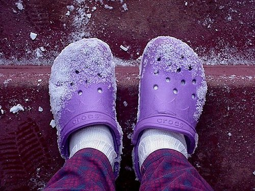 Keep your feet toasty with Crocs