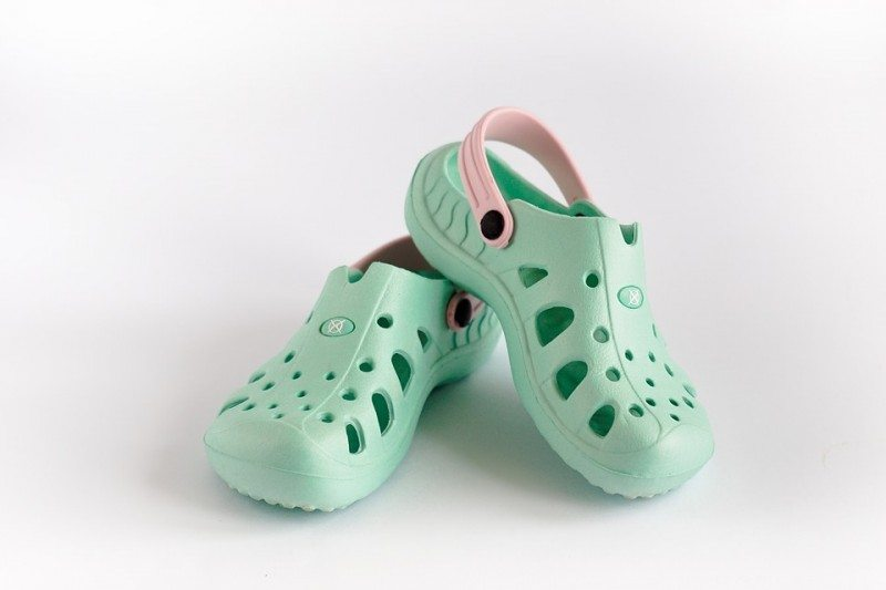 Crocs come in pastel and quirky colours