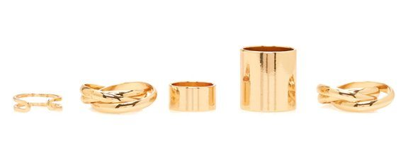 Layered Cuff Midi Ring Set