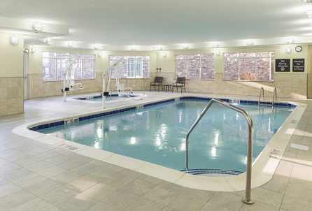 Indoor pool at Hilton