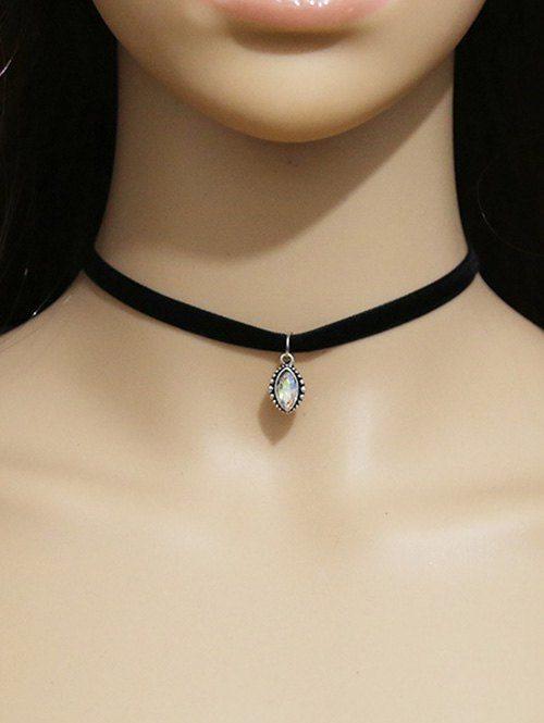 Faux Crystal Eye Choker Necklace