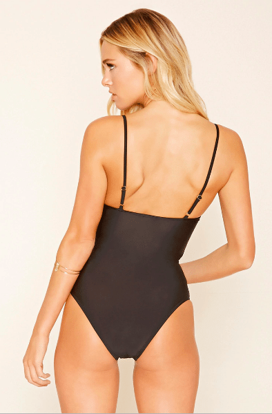 zip front one piece forever 21 swimwear
