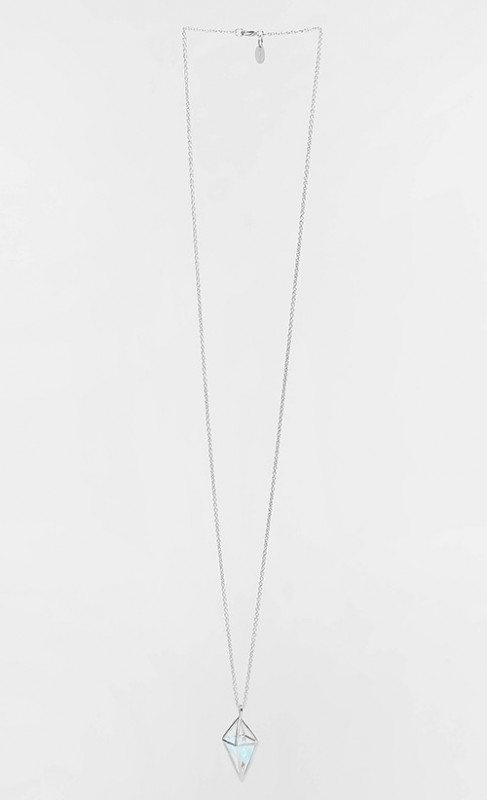 [in]trigue Diamond Stone Necklace