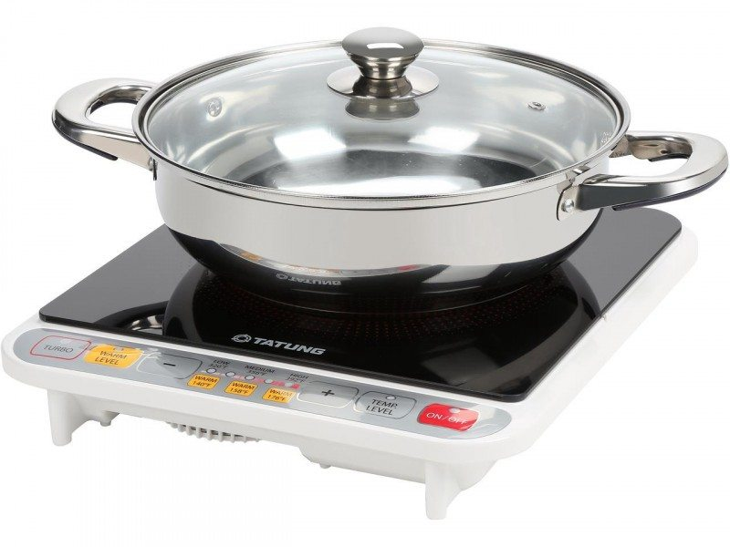 Tatung Induction Cooktop with Stainless Steel Pot