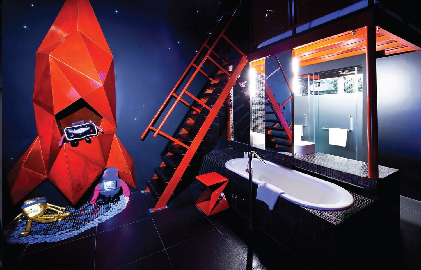 Wanderlust Hotel space themed rooms