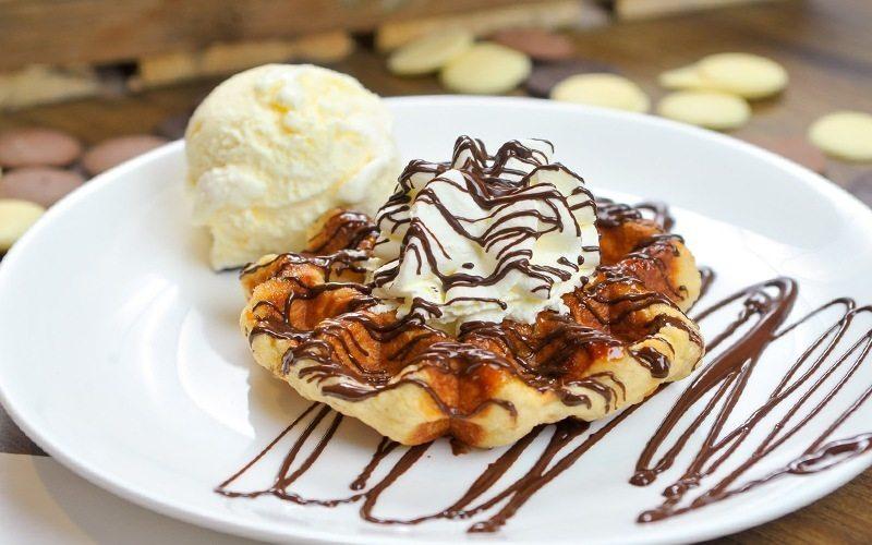 Freshly Baked Belgian Liège Waffles with Ice Cream - Wafflemeister Malaysia