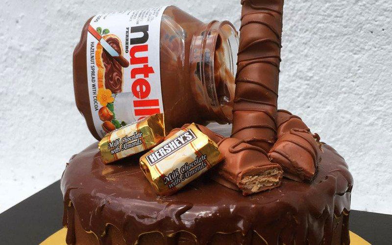 1kg Nutella Chocolate Cake - Qt Pots