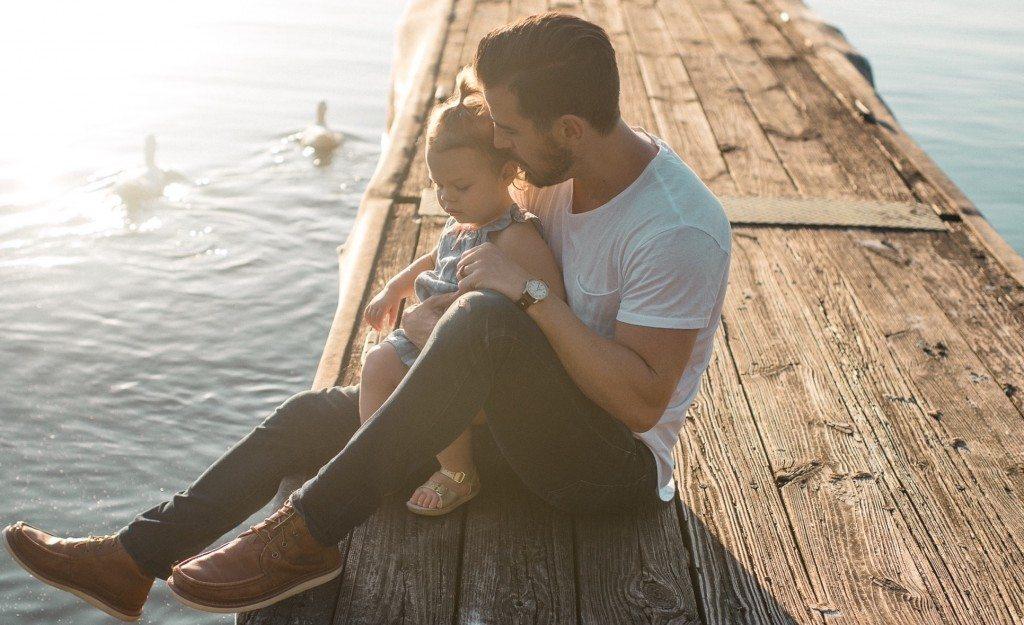 Caleb Jones Father hugging daughter