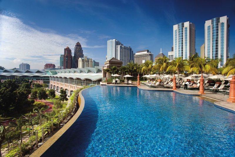 Scenic view from Mandarin Oriental Hotel in Malaysia
