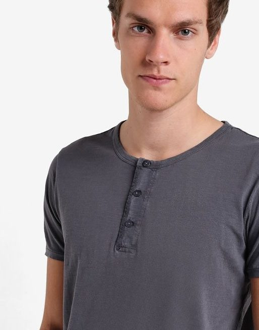 Mango Men Henley Cotton T-Shirt