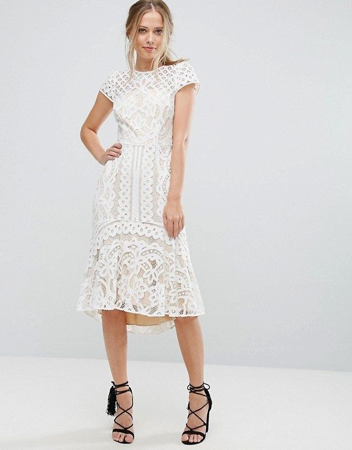 Coast Dee Dee Lace Peplum Dress