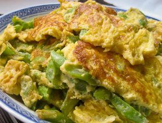 Green beans omelet
