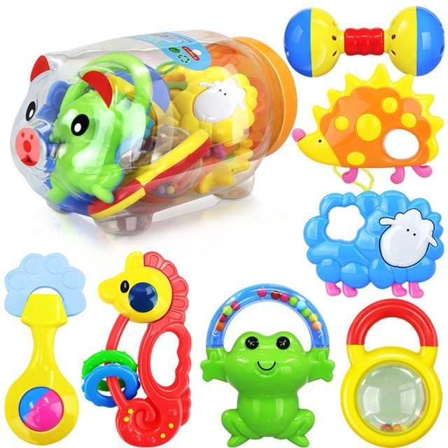 Baby Plastic Rattles and Teethers Set