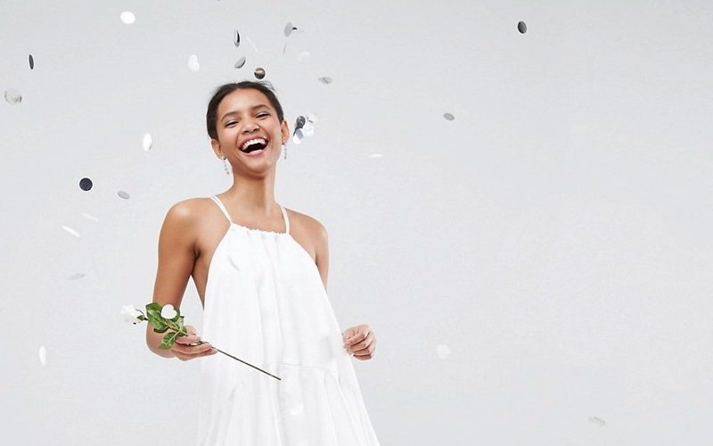 asos bridal soft floaty ruffle cami maxi dress