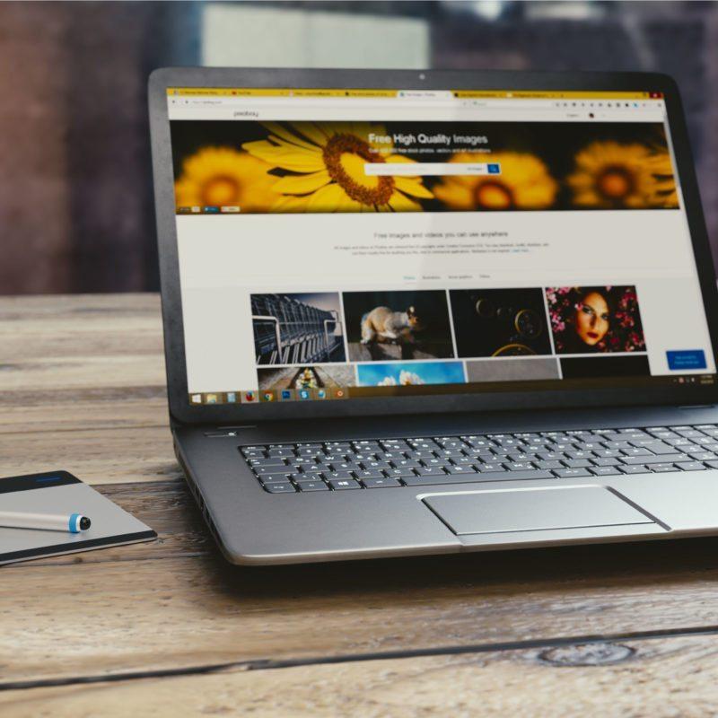 open laptop
