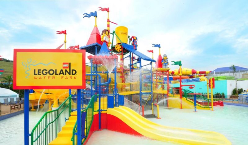 Legoland's waterpark slide