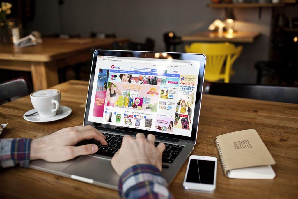 Qoo10 Shopping Tips on Laptop